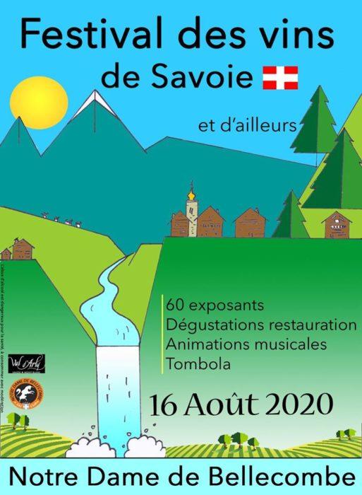 Participation aux 28 éme Festival des Vins de Savoie de Notre Dame de Bellecombe dimanche 16 Aout